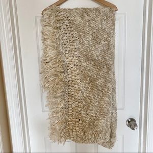 West Elm cozy weave knit blanket throw